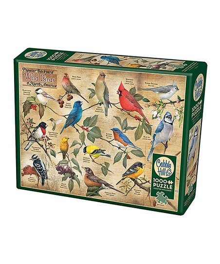 Popular Backyard Wild Birds Of North America 1000 Piece Puzzle