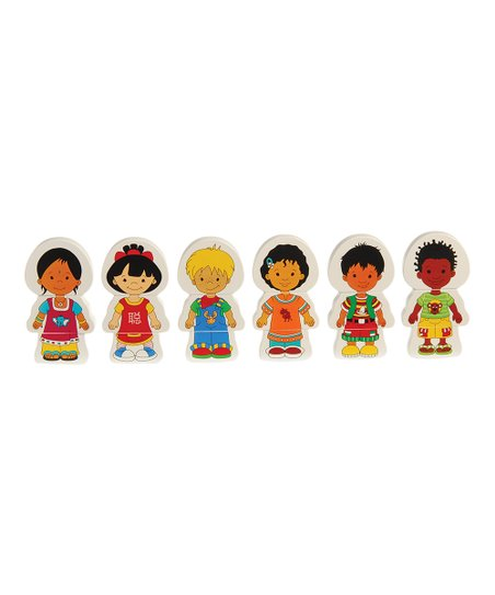 Matching Global Children Magnet Set