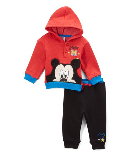 566704b35 Childrens Apparel Network Mickey Mouse Red Hoodie & Sweatpants Set ...