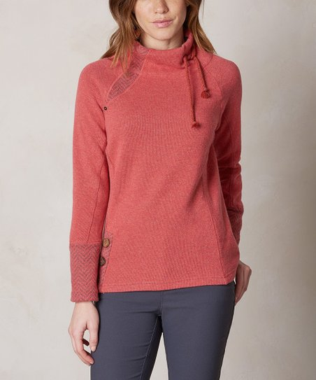 Prana Sunwashed Red Lucia Wool Blend Sweater Women Zulily