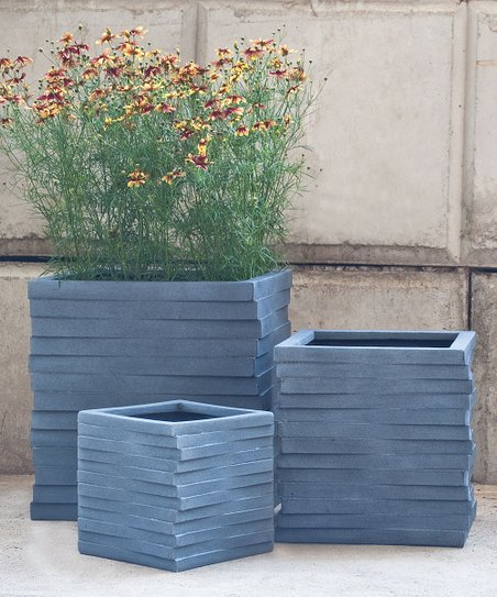 Pride Garden Products Lead Grovsa Cube Planter Set Of Three Zulily