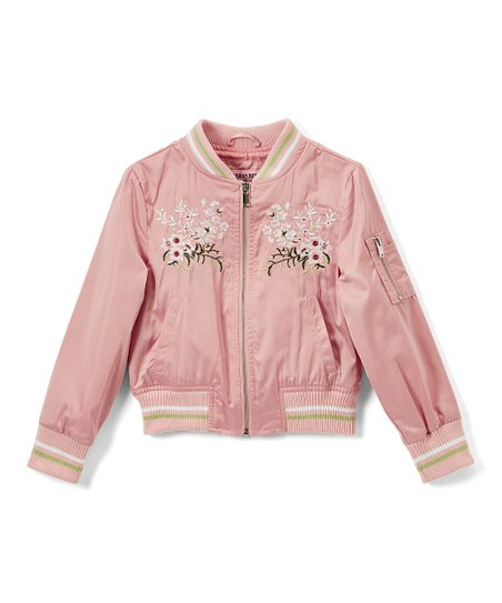 346d384e8415 Urban Republic Rose Smoke Floral-Embroidered Sateen Bomber Jacket ...