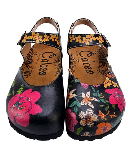 4963aef9539 love this product Black   Pink Floral Ankle-Strap Mary Jane - Women