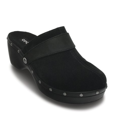c731d9463 Crocs Black Leather Cobbler Studded Clog - Women