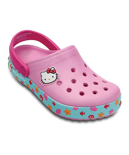 e96767ace love this product Carnation & Neon Magenta Hello Kitty® Crocband™ Clog -  Kids