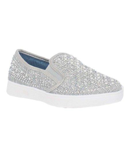 como comprar gran variedad de estilos mejor elección Lauren Lorraine Silver Chica Slip-On Sneaker - Girls