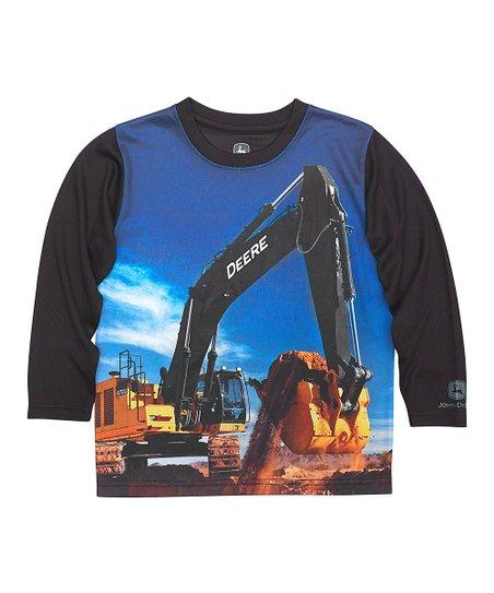 e4a1a0973 John Deere Black Excavator Long-Sleeve Tee - Toddler | Zulily