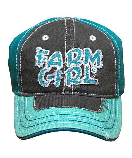6d74d7c1237f4e love this product Mint Green 'Farm Girl' Baseball Cap