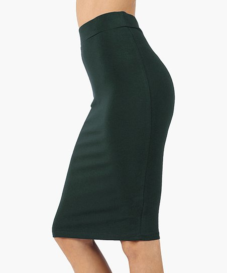 037818c1e love this product Hunter Green Pencil Skirt - Plus