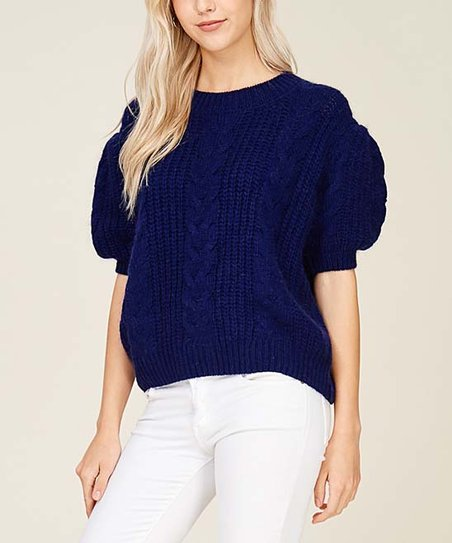 241c83f50529a love this product Indigo Puff-Sleeve Sweater