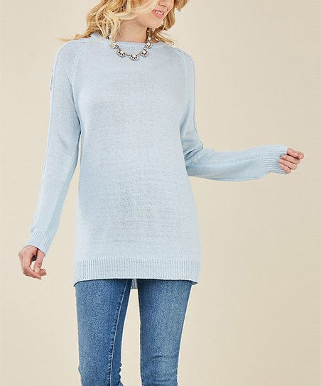 Entro Light Blue Sweater Women Zulily