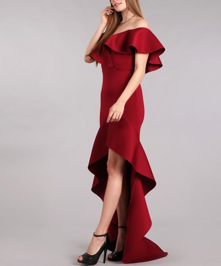 8a53acc5477 love this product Burgundy Hi-Low Dress - Plus Too