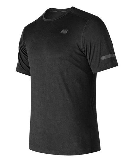 New Balance Black Max Intensity Short-Sleeve Tee - Men's Regular