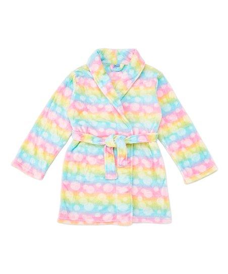Sleep On It Cloud Nine Fair Isle Fleece Robe - Girls | zulily