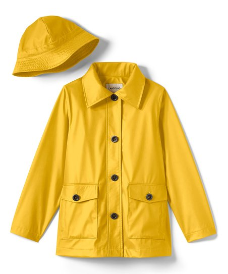 love this product Yellow Rain Slicker   Hat - Girls 8df65d81be5
