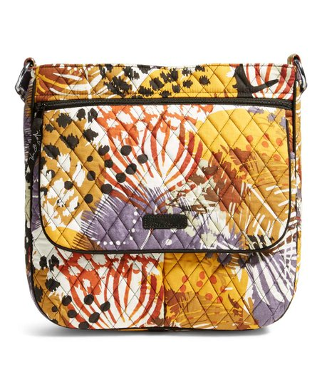 Vera Bradley Painted Feathers Double-Zip Mailbag   zulily 64329bfa11