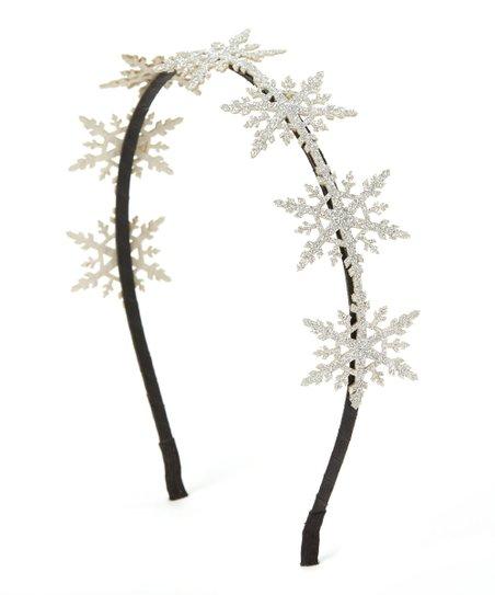 Picki Nicki Hair Bowtique Silver Sparkly Snowflake Headband  eafca52bfdc