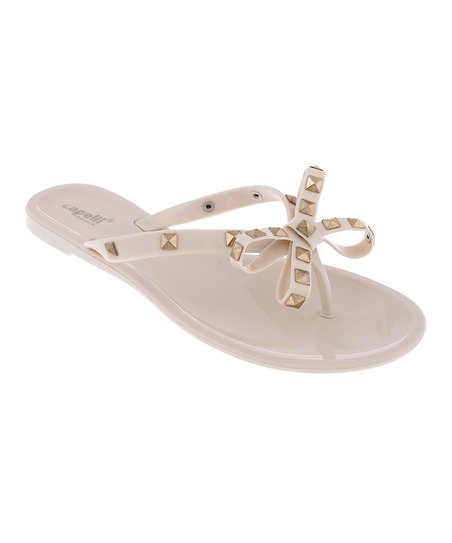 cc2311ee5 Capelli New York Nude Studded Bow Jelly Sandal - Women