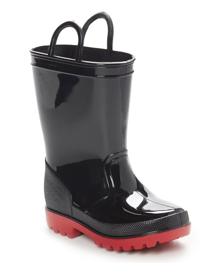 e7afe405ed4 love this product Black   Red Rain Boot - Kids