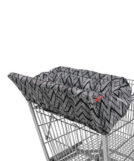 Fine Skip Hop Black White Chevron High Chair Shopping Cart Cover Bralicious Painted Fabric Chair Ideas Braliciousco