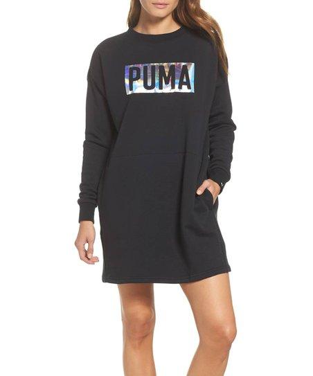 halpa myytävänä kuuma myynti verkossa myyntipisteiden myynti PUMA Black Fusion Crew Sweatshirt Dress