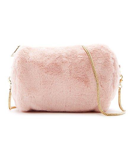 love this product Pink Valencia Faux Fur Crossbody Bag 4183c1efb2423