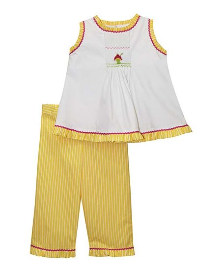 57377f0c241285 love this product White   Yellow Ice Cream Tank   Pants - Infant