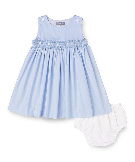 09836b5c1b952f Les Petits Soleils by Fantaisie Kids Baby Blue Sleeveless Dress ...