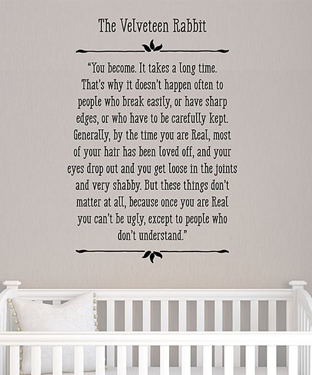 Wall Quotes™ by Belvedere Designs \'The Velveteen Rabbit\' Wall Decal