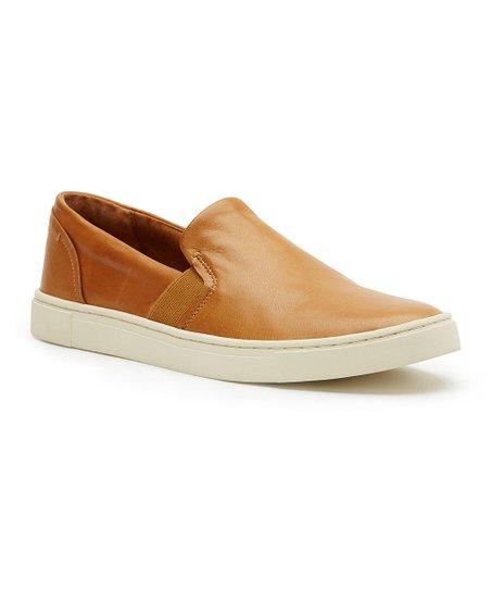 Frye Tan Ivy Leather Slip-On Sneaker