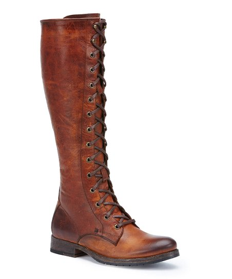 Frye Cognac Melissa Tall Lace-Up