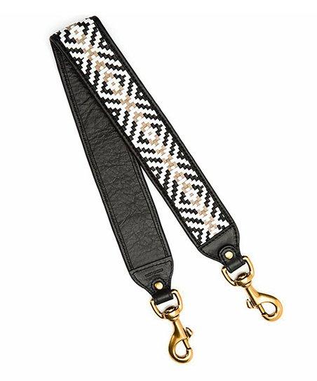 278969f0be Frye Black White Weave Leather Handbag Strap Zulily