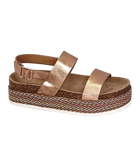 88ddfcf08ded love this product Rose Gold Mesa Platform Sandal - Women