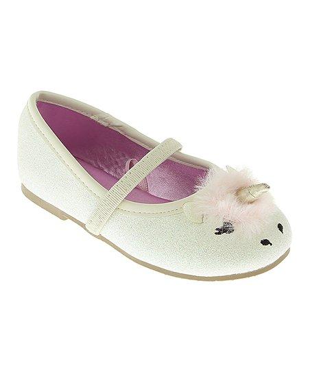 3eedabe5f9e4e0 love this product White Unicorn Face Ballet Flat - Girls
