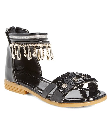 a2fe514acfa love this product Black Floral Ankle-Strap Sandal