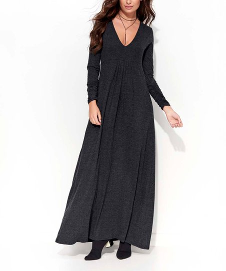 fe9dc78135 love this product Graphite Melange Long-Sleeve Maxi Dress