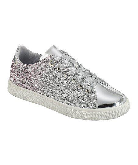 love this product Silver Glitter Sneaker - Women 70887ebe9