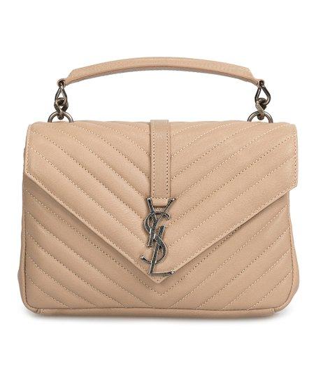 5527f749da YSL Beige Matelasse Leather Shoulder Bag