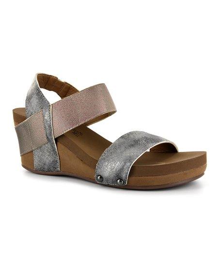 c776d2e50984 love this product Pewter Bandit Wedge Sandal - Women