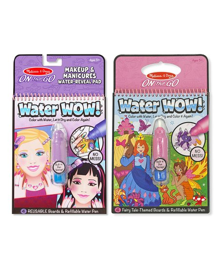 Melissa Doug Makeup Fairy Tale Water Wow Activity Book Set Best Price And Reviews Zulily