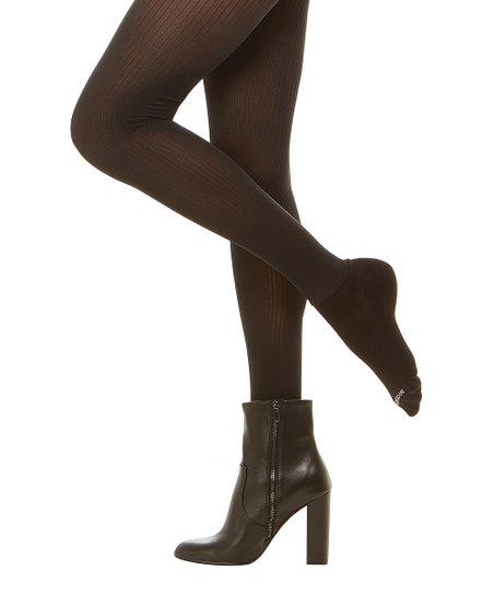 e40dd94a9c6 Bootights® Black Sheer Ribbed Madison Tights