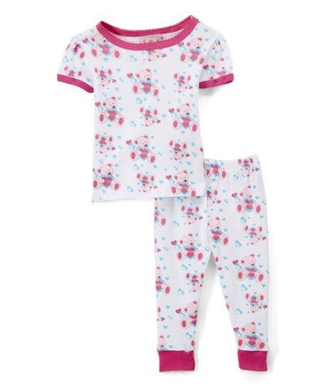 791a201a7 Sweet   Soft White Teddy Bear Short-Sleeve Pajama Set - Toddler