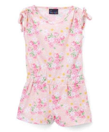 ec64b95d95af Sweet   Soft Pink Floral Romper - Infant   Toddler
