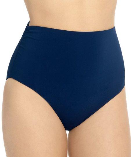 e4516899e825d love this product Navy High-Waist Convertible Fold-Over Bikini Bottoms -  Women