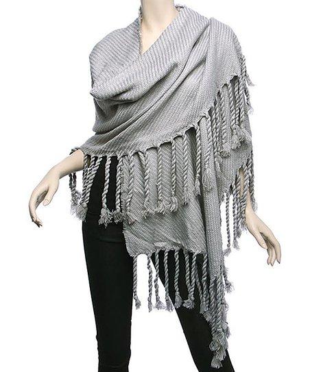 52469cda7 Barrington Silver Fringe Blanket Scarf - Women | Zulily