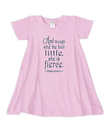 love this product Light Pink  Little but Fierce  T-Shirt Dress - Toddler    Girls 5de343bd3421