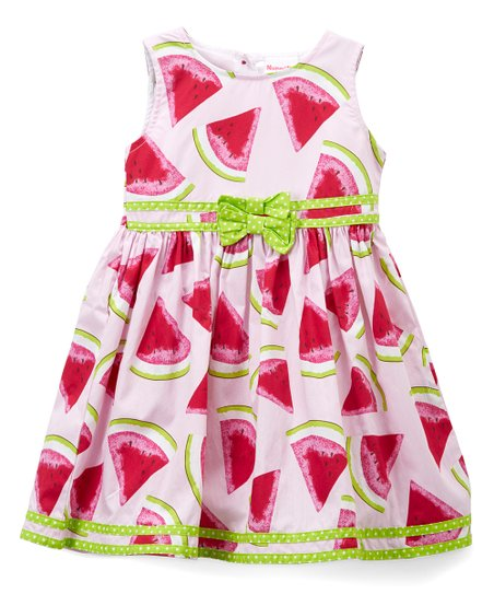 22e48c68a713 love this product White & Pink Watermelon Dress & Diaper Cover - Toddler