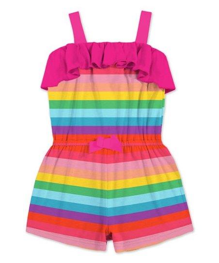 ef766818c5aa Sunshine Swing Red   Yellow Stripe Ruffle Romper - Toddler   Girls ...