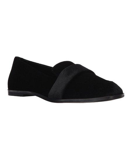 Kenneth Cole Reaction Black Glide Slide Velvet Loafer - Women