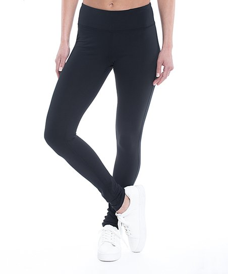95084fd72c75f Gaiam Black Om Yoga Leggings - Women | Zulily
